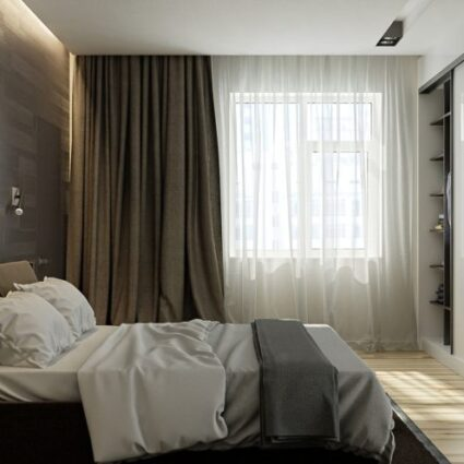curtains in loft style